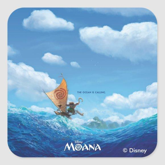 Moana | The Ocean Is Calling Square Sticker