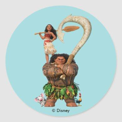 Moana | True To Your Heart Classic Round Sticker