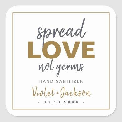 Modern Minimalist Script Spread Love Wedding Favor Square Sticker