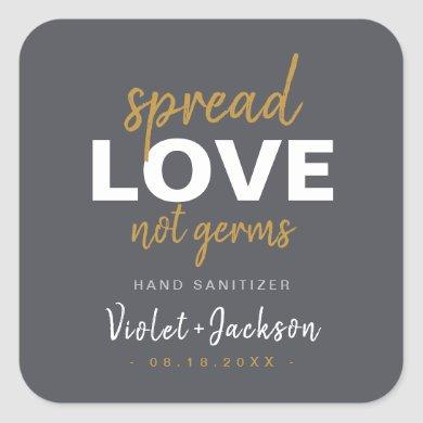 Modern Minimalist Script Spread Love Wedding Favor Square Sticker