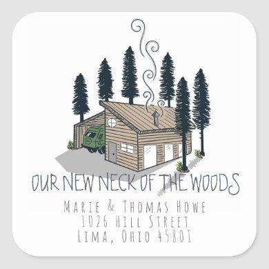 Moving Announcement Stickers | Neck of the Woods