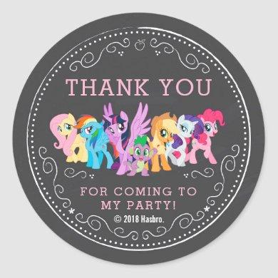 My Little Pony | Chalkboard Birthday Classic Round Sticker