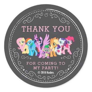 My Little Pony   Chalkboard Birthday Classic Round Sticker