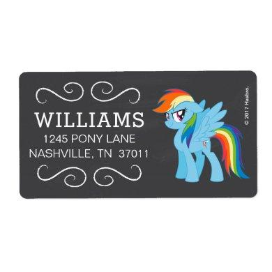 My Little Pony | Chalkboard Rainbow Dash Label