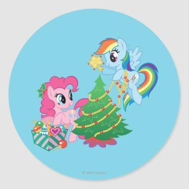 My Little Pony Christmas Classic Round Sticker