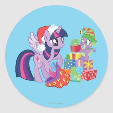 My Little Pony, Christmas Presents Classic Round Sticker