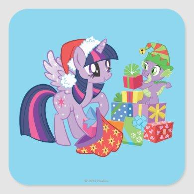 My Little Pony, Christmas Presents Square Sticker