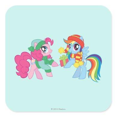 My Little Pony, Christmas Square Sticker