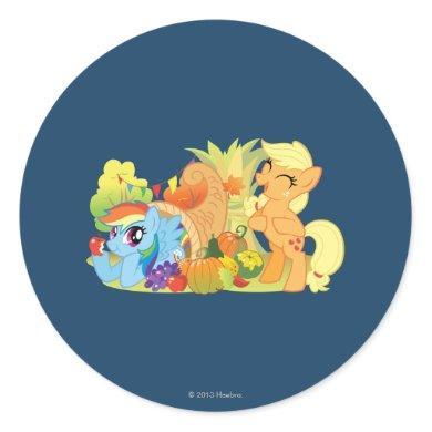 My Little Pony, Fall Scene Classic Round Sticker