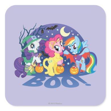 My Little Pony, Halloween Boo Square Sticker
