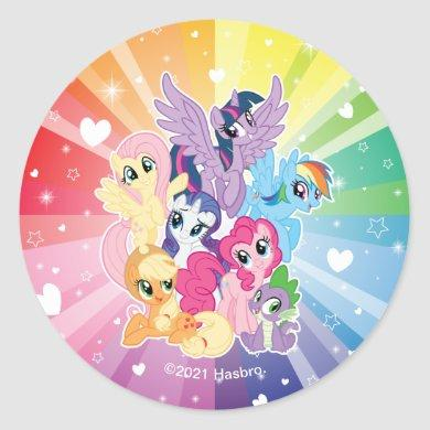 My Little Pony   Magical Friends Classic Round Sticker
