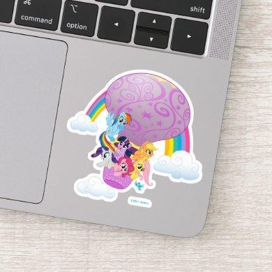 My Little Pony   Mane 6 Balloon Ride Sticker