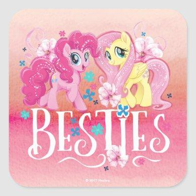 My Little Pony | Pinkie and Fluttershy - Besties Square Sticker