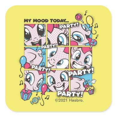 My Little Pony   Pinkie Pie Party Mood Square Sticker