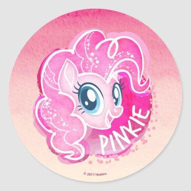 My Little Pony | Pinkie Pie Watercolor Classic Round Sticker