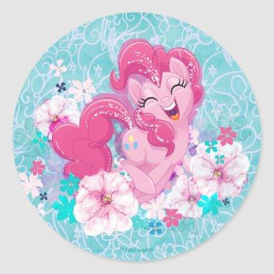 My Little Pony | Pinkie Running Through Flowers Classic Round Sticker
