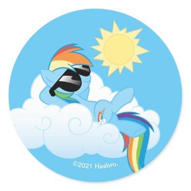 My Little Pony   Rainbow Dash Catching Sun Classic Round Sticker