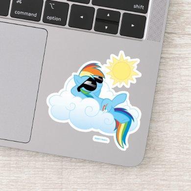 My Little Pony   Rainbow Dash Catching Sun Sticker