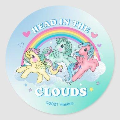 My Little Pony Retro   Head in the Clouds Classic Round Sticker