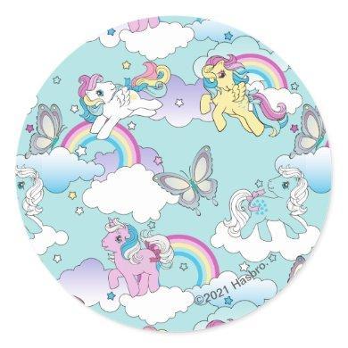 My Little Pony Retro   My Cloud Pattern Classic Round Sticker