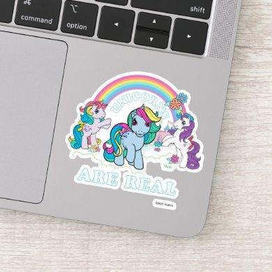 My Little Pony Retro   Unicorns Are Real Sticker
