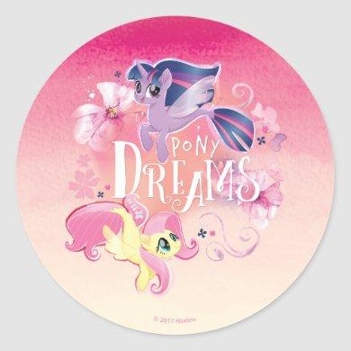 My Little Pony   Twilight and Fluttershy - Dreams Classic Round Sticker
