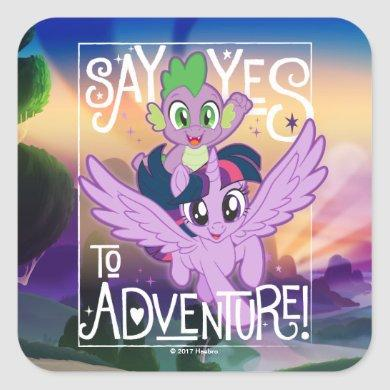 My Little Pony | Twilight and Spike - Adventure Square Sticker