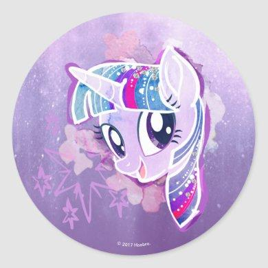 My Little Pony   Twilight Sparkle Watercolor Classic Round Sticker