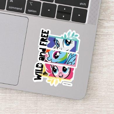 My Little Pony   Wild & Free Collage Badge Sticker