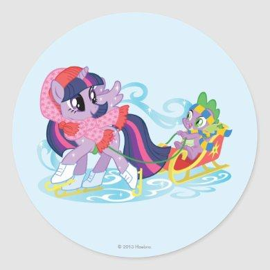 My Little Pony Winter Classic Round Sticker