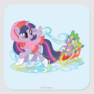 My Little Pony Winter Square Sticker