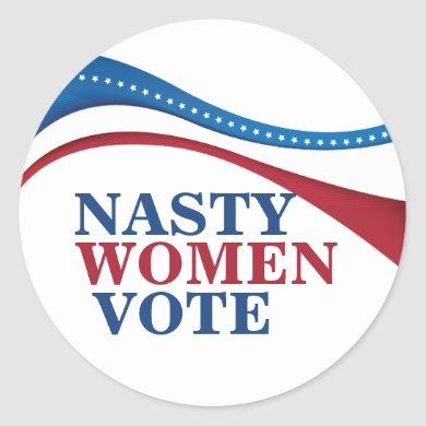 Nasty Women Vote Classic Round Sticker