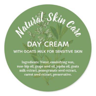 Natural Skincare Label