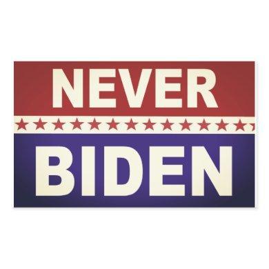 Never Biden Rectangular Sticker