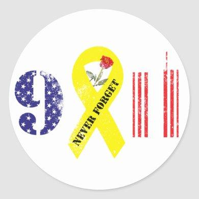 Never Forget 9 11 Classic Round Sticker
