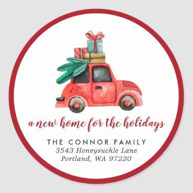 New Home for the Holidays | Moving Sticker