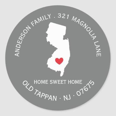 NEW JERSEY | New Home Address Label Sticker