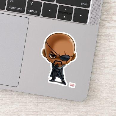 Nick Fury Stylized Art Sticker