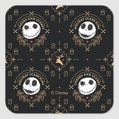 Nightmare Before Christmas | Cheers and Scares Square Sticker