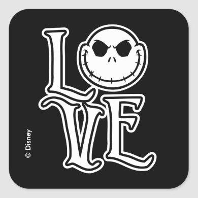 Nightmare Before Christmas - LOVE Square Sticker
