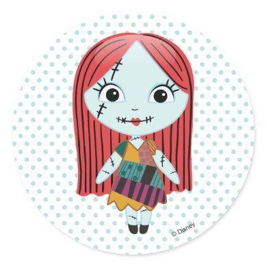 Nightmare Before Christmas | Sally Emoji Classic Round Sticker