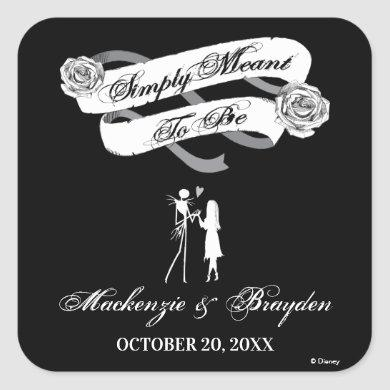 Nightmare Before Christmas - Wedding Square Sticker