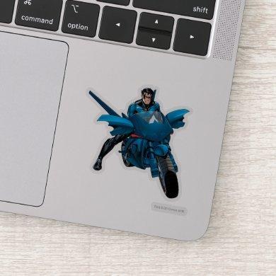 Nightwing on bike sticker