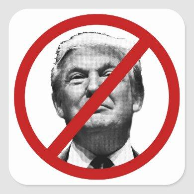 No Trump International Sign Square Sticker