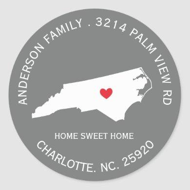NORTH CAROLINA State |  New Address Label Sticker