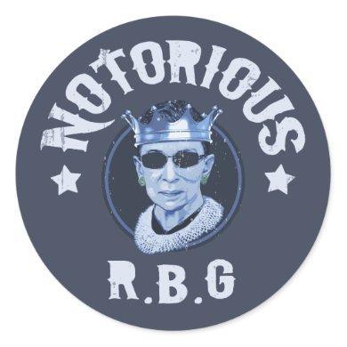 Notorious RBG III Classic Round Sticker