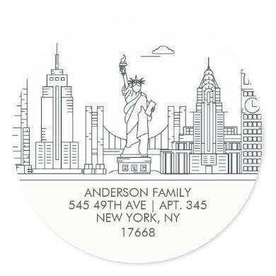 NY CITY APARTMENT | New Home Address Label Sticker