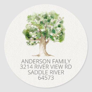 Oak Tree We've Moved New Address Label Sticker