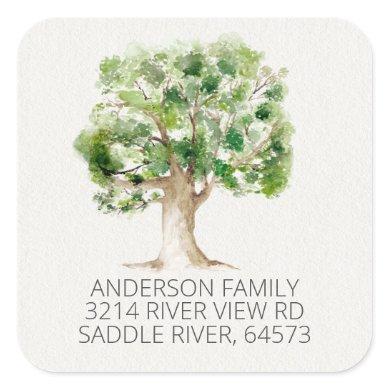 Oak Tree We've Moved New Address Label Sticker