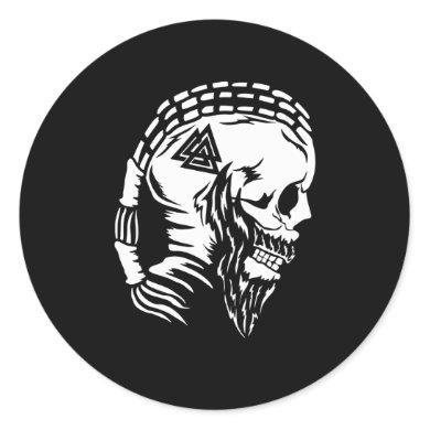 Odin God Norse mythology valhalla Viking Nordic Classic Round Sticker